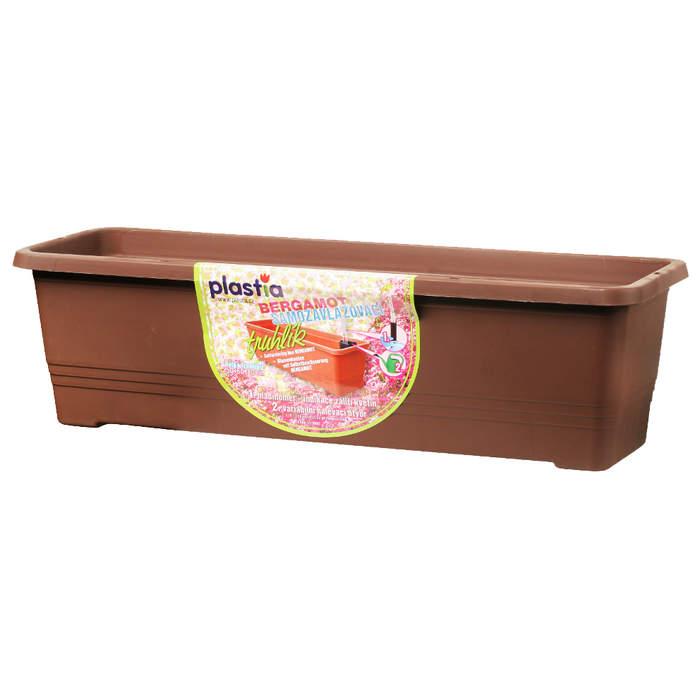 Truhlík samozavlažovací BERGAMOT 50cm čokoláda