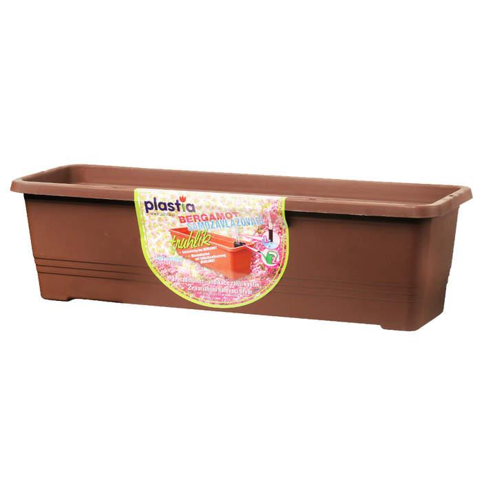Truhlík samozavlažovací BERGAMOT 80cm čokoláda