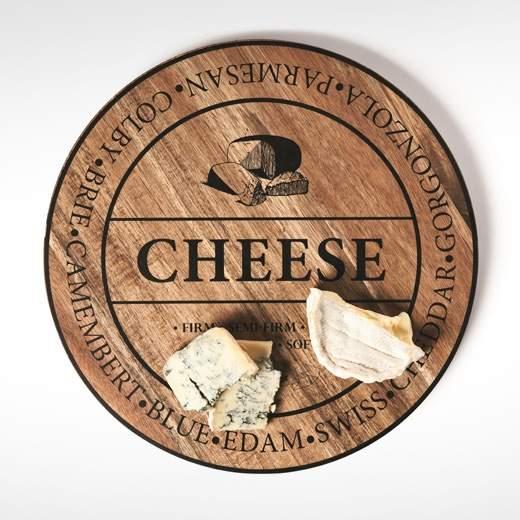 Prkénko na sýr kulaté FROMAGE dřevo S&P