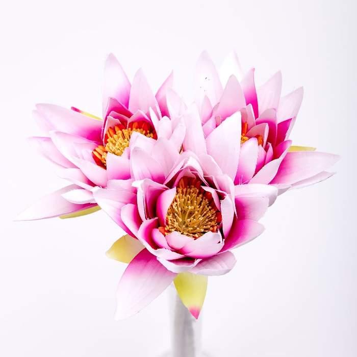 Lotus řezaný umělý růžový