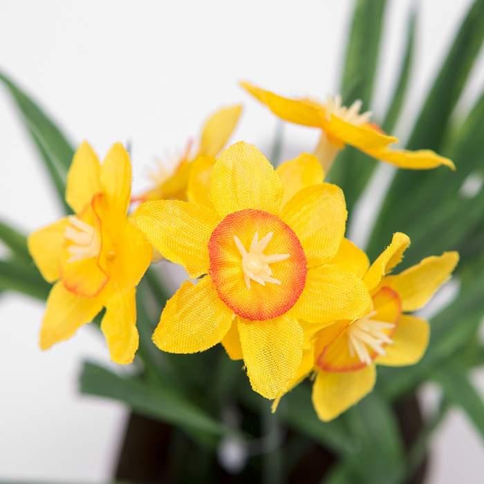 Jarní květina umělá hrnková mix