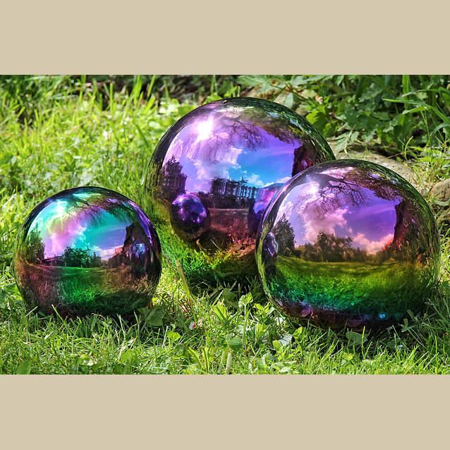 7255990cfd3 Dekorační koule GALAXY nerez 18cm malá