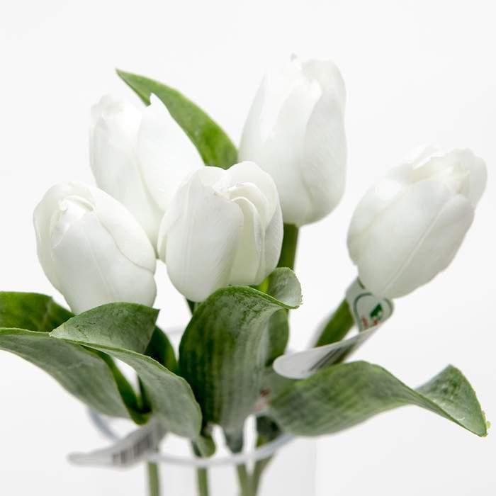 Tulipán řezaný umělý 40cm bílý