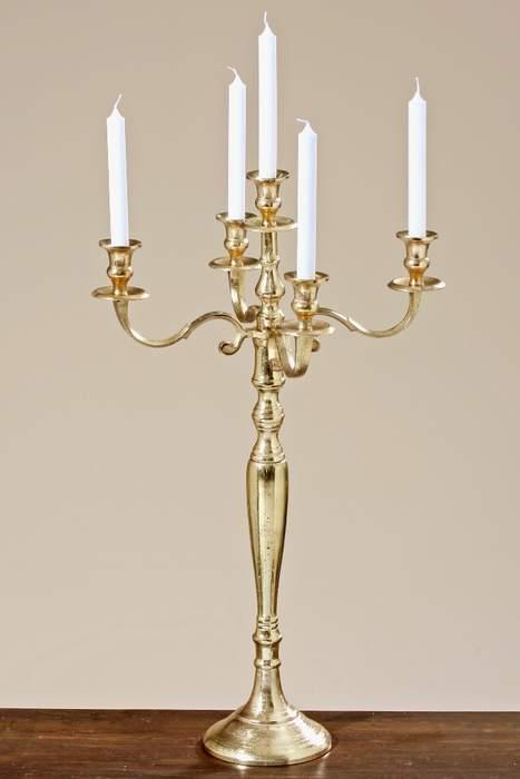 Svícen na noze Victoria 5 svíček hliník 77cm