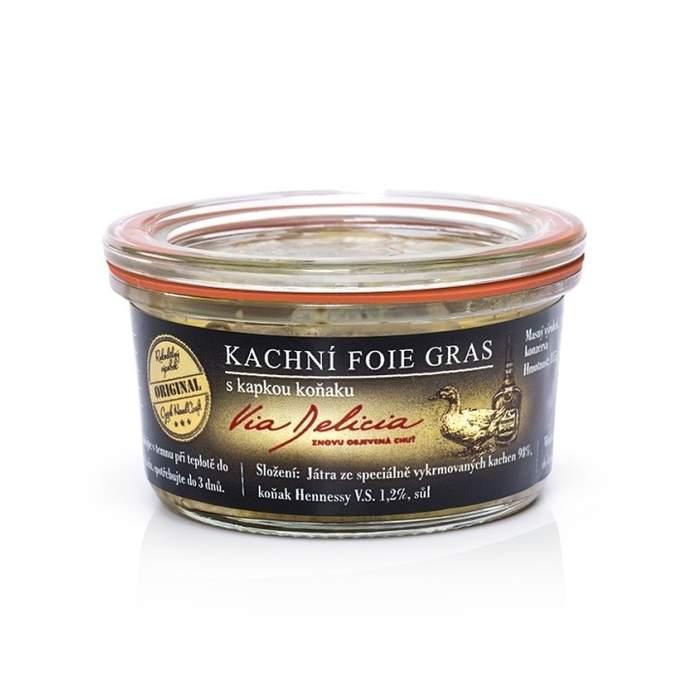 Foie gras kachní s kapkou koňaku 115g