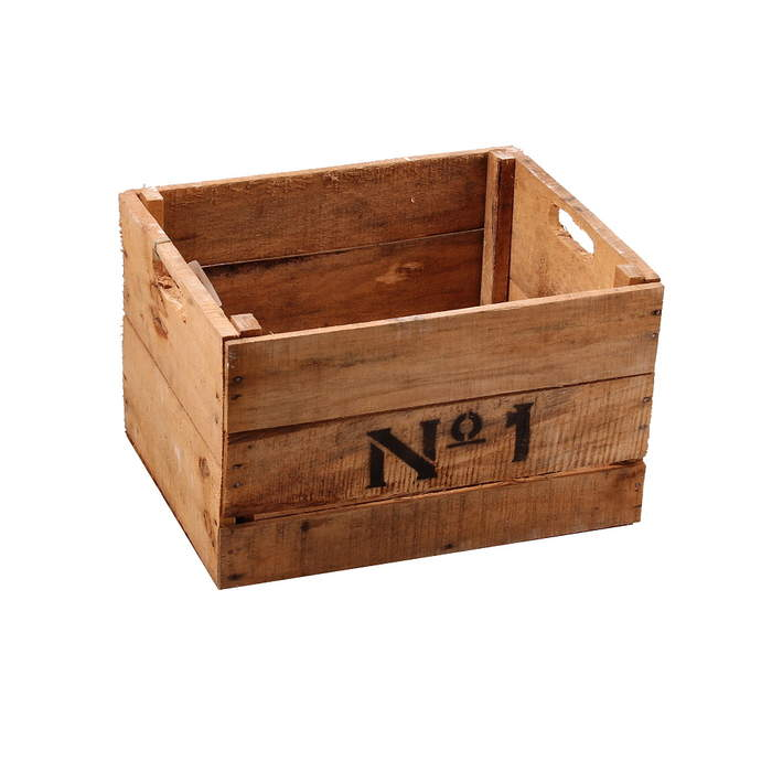 Bedna dřevěná No.1 35 cm přírodní