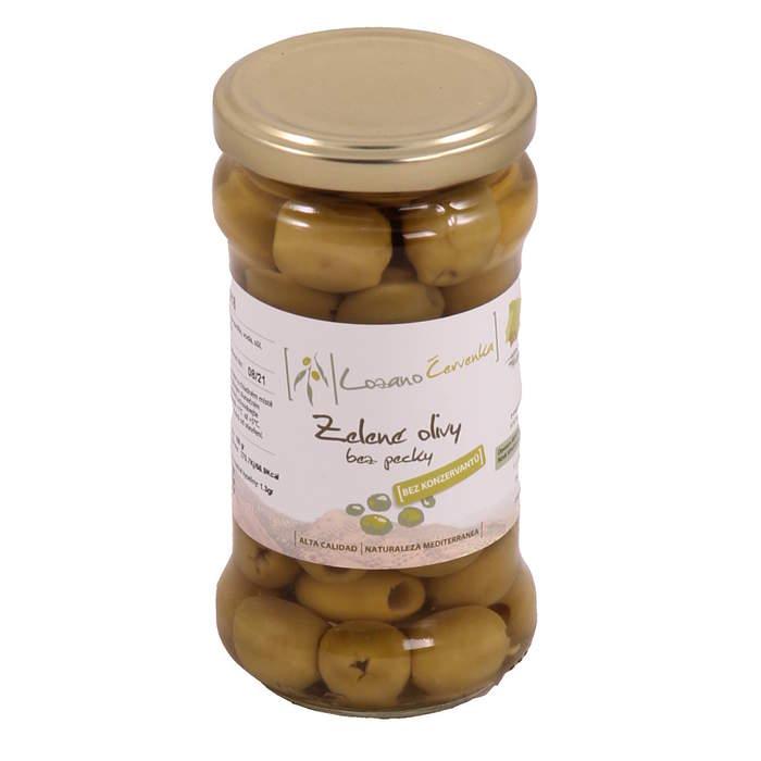 Zelené olivy bez pecky 145g