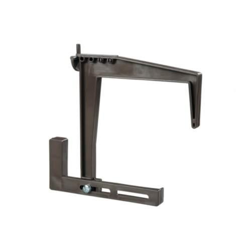 Držák/Hák na truhlíky stavitelný plast hnědý