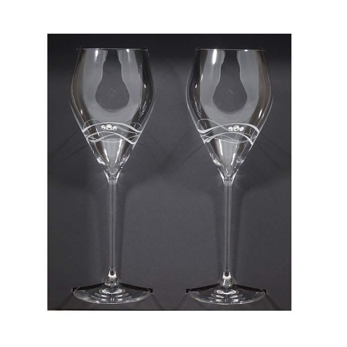 Sklenice na bílé víno DIAMANTE SEAWAVES 2ks sklo