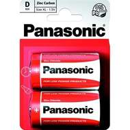 Baterie Panasonic D Red Zinc-blistr 1,5V 2 ks