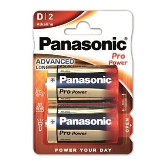 Baterie Panasonic D ProPower Gold 1,5V 2ks