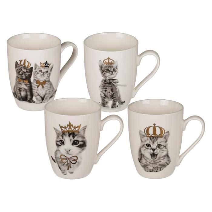 E-shop Porcelánový hrnek kotě s korunou 10cm mix motivů