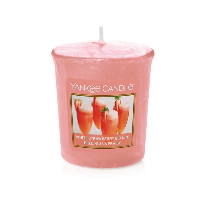 Votiv YANKEE CANDLE 49g White Strawberry Bellini