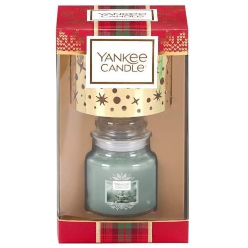 Vánoční dárková sada YANKEE CANDLE svíčka 104g + stínítko malé