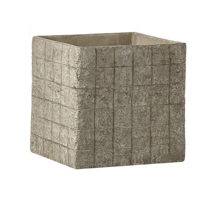 Květináč BRICK 23,5cm hranatý cementový