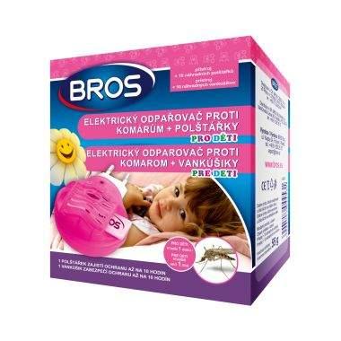 Odpařovač el.na komáry dětský BROS + 10 polštářků