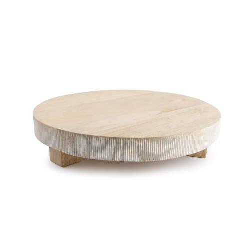 Prkénko servírovací kulaté GRAND na nohách dřevo S&P 38cm