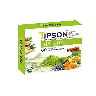 Čaj TIPSON BIO Matcha Kazeta Assorted 60x1,5g