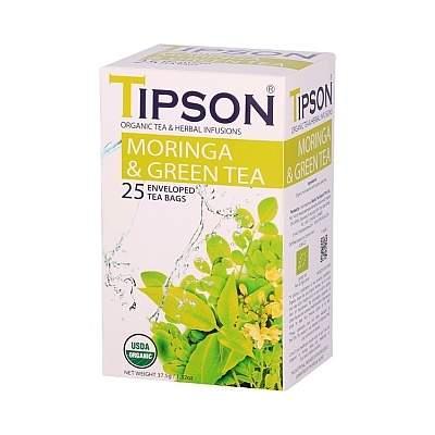 Čaj TIPSON BIO Health Teas Moringa GreenTea 25x1,5g