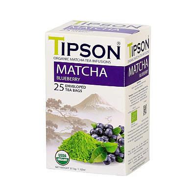 Čaj TIPSON BIO Matcha Blueberry 25x1,5g