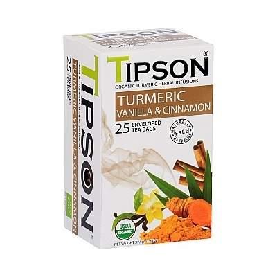 Čaj TIPSON Wellnes Turmeric & Vanilla Cinnamon 25x1,5g