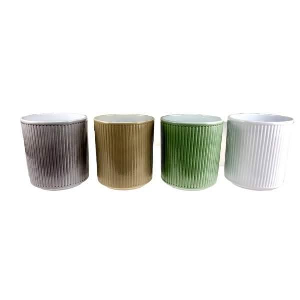 Obal orchidej STRIPES keramika mix 15cm